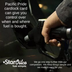 Pacific Pride & Star Oilco cardlock card can give you control over when and where fuel is bought.
