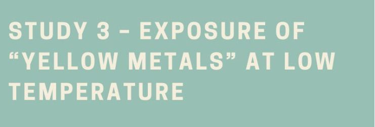 """Exposure of """"Yellow Metals"""" at low temperature with biodiesel"""