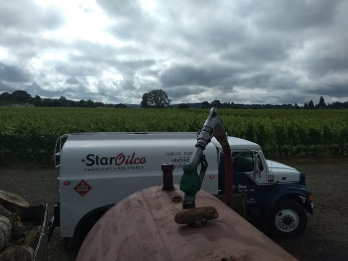 Fueling of a Farm Tank with a Star Oilco Truck.